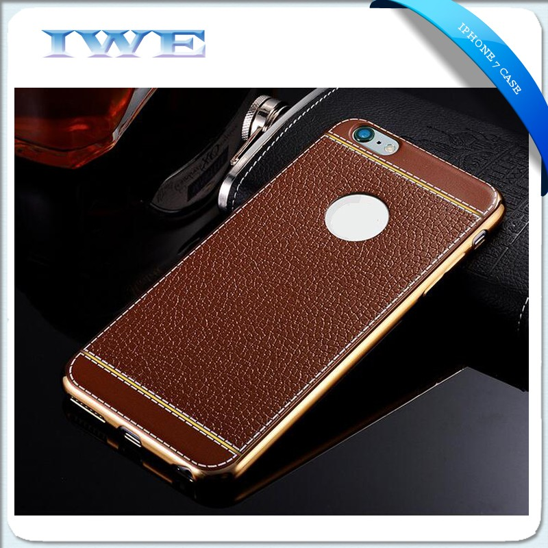 2016 new factory direct leather cell phone case, for iphone7 plus case, for iphone 7 cover