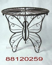 tiny metal butterfly plant table for plants