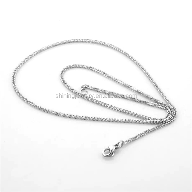 cheap wholesale price plain silver color necklace chain guangzhou stainless steel jewelry