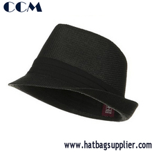 Wholesale Men Paper Straw Fedora Hats