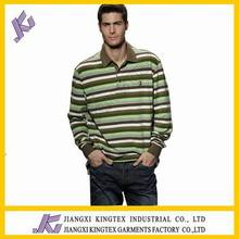 Mens Hot Sell Wholesale Customized Polo T Shirt/ long sleeve polo shirt stripe style