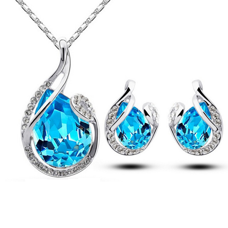 Wholesale Popular Jewelry <strong>Set</strong> Fashion AAA Zircon Women Large Jewelry <strong>Set</strong>