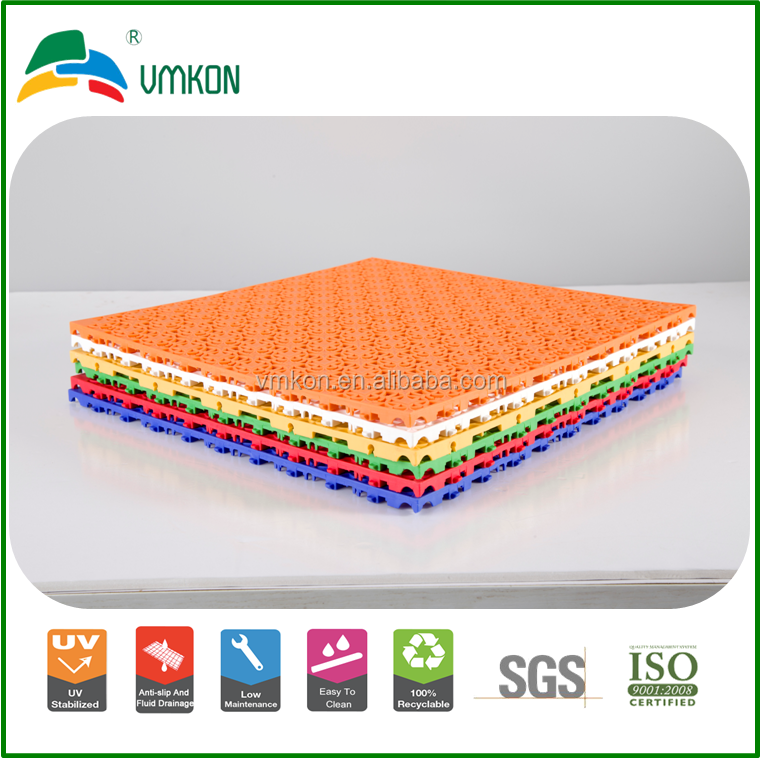 sound and heat resistance durable ITTF table tennis court self-draining pp sports flooring tiles vsa-333310