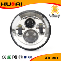 Factory supply J eep 4x4 accessories, 7 Inch Car LED Projector Headlight DOT Approved Round Head Light with Halo ring for JK