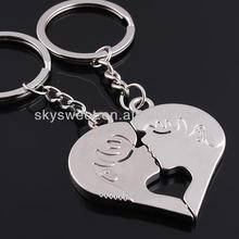 Hot sale customized key chains for promotion,heart shaped key chains,kiss keyring