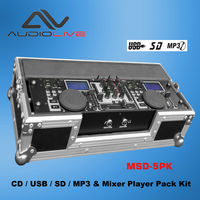 china supplier best selling cdj with 2 channel usb mp3 Players MSD-5 pk Nexus mini audio dj mixer