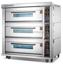 Best selling 3 deck 9 trays commercial used bakery oven run by electric with high quality