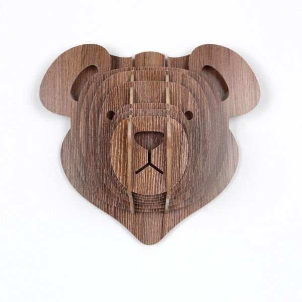 Wooden teddy bears home decoration murals,love teedy wall hanging