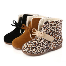 winter snow boots girls knots leopard boots cheap prices