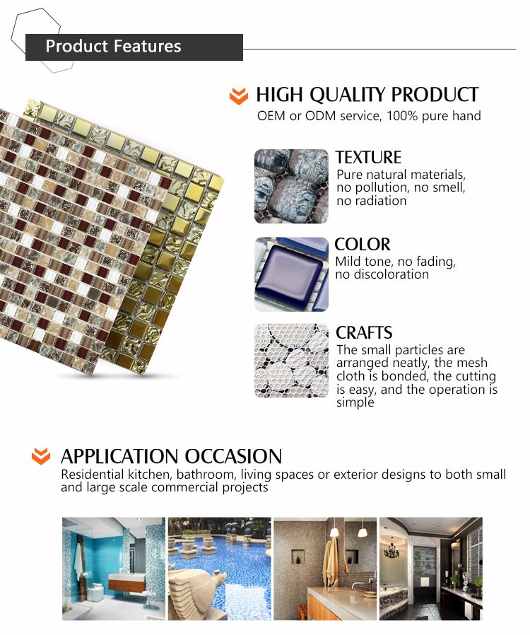 China Foshan Supplier Wholesale 6MM Thickness Round Bubble Glass Backsplash 3D Mosaic Tile