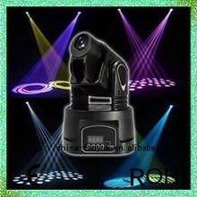 stage lights DMX 512 Gobo spot 15w led mini moving head