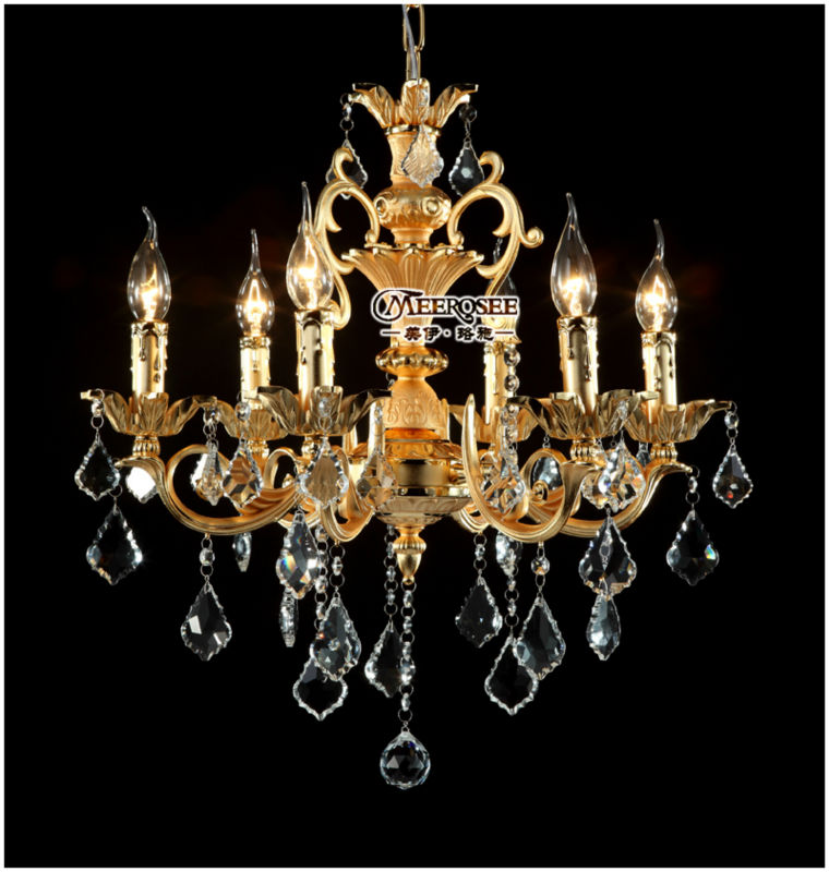 China Manufacturer Luxury Candle Small Zinc Alloy Chandelier for Bedroom MD8858 L6