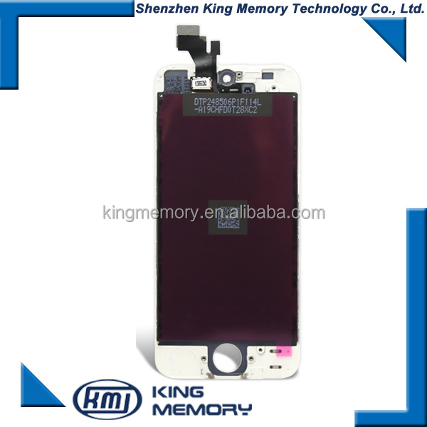 high quality original lcd with touch screen For iPhone 5 lcd complete assembly