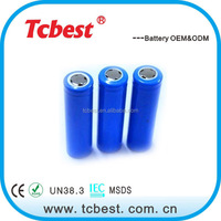 High drain 1500mAh 30A 18650 li-ion battery for power tools