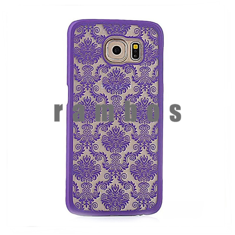 Hot Hard Case Cover Palace Paper Cut Flower Plastic Clear Retro Case for Samsung Galaxy A3 A5 A7 Note 3 Note 4
