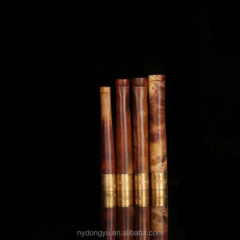 roundwood metal filter cigar holder / dunh brown wooden filter cigar holder/fancy filter cigarette holder