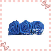 Twin hair clips with rose bow,french hair clips
