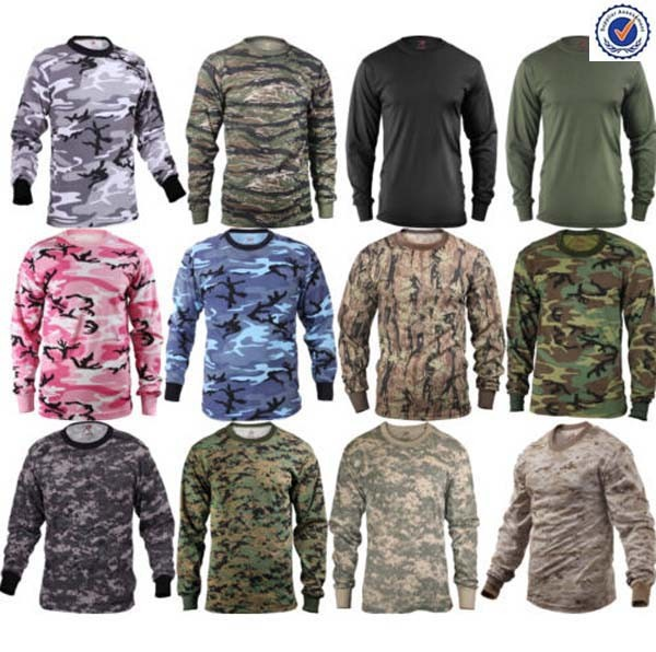 Camouflage long sleeve military t-shirt