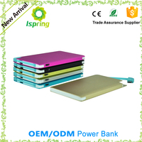 Factory Supply 2500mAh Portable Credit Card Power Bank With Customised design