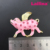 Wholesale Fashion Gold Tone Brooch Rhinestone Angel pig Pin brooches