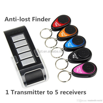 Useful 5 in 1 Anti-lost Wireless Alarm Electronic Key Wallet Phone Finder