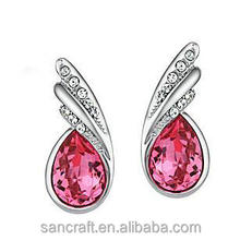 High quality bali jewelry luxuru Austrian crystal rhinestone princess accessories earring