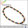 fashion factory directly sales cheap handmade wooden beaded necklace