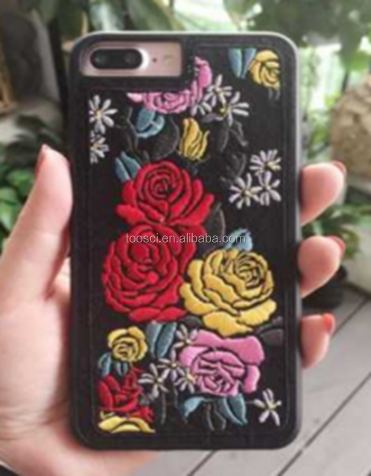 New Design Flower Bird Embroidery Phone Case For <strong>Iphone</strong>