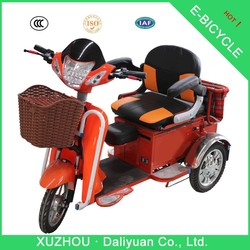 electric passenger 3 wheel pocket bike motorcycle with baby seat