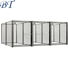 Large outdoor dog kennel fence panel/galvanized weld mesh dog kennel