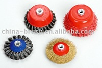 twist knot wire cup brush with thread sc4100