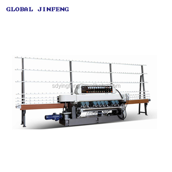 JFB-261 9 Motors used glass straight line beveling edge polishing machine