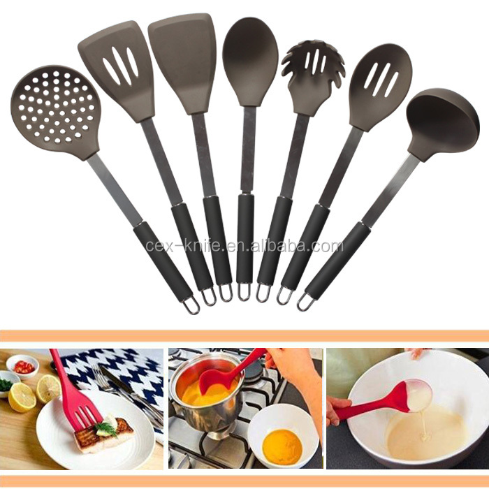 7 Piece Premium Silicone Kitchen Utensil Set