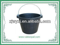 small rubber construction bucket made in China,new products