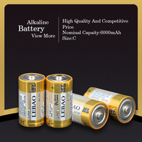 Wholesale C Battery Certification Approved 6000mAh C LR14 AM2 1.5V Alkaline Battery Dry Cell Battery
