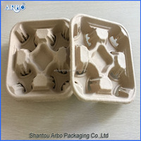 4-cup coffee paper cup holder tray