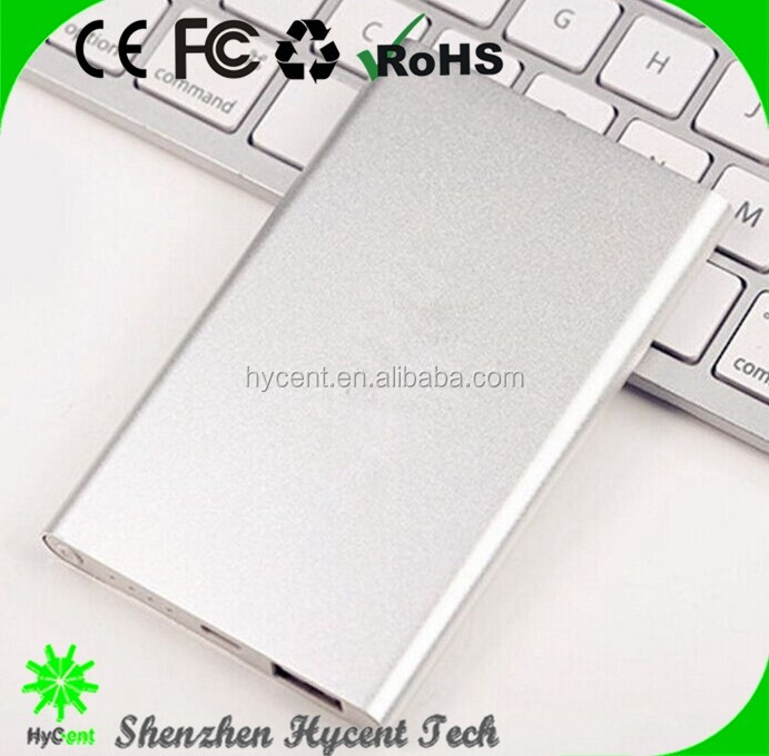 Wholesale new mobile charger slim power bank 5000mah , portable phone charger for smart phone