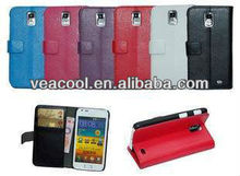 Book Leather Case Cover Pouch for Samsung Galaxy S II Duos i929 ,inner standing