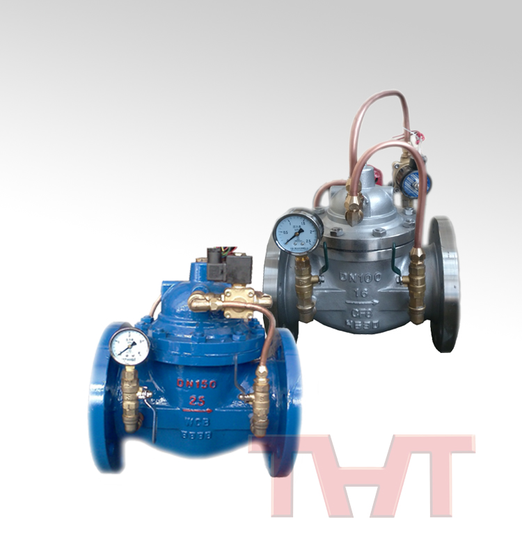 cf8m electric solenoid flanged water control valve