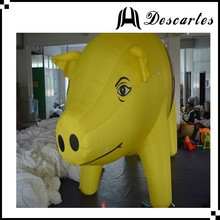 3m height oxford cloth giant inflatable advertising pig for large events
