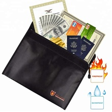 Custom Fireproof Waterproof File Pouch Holder Document Bag