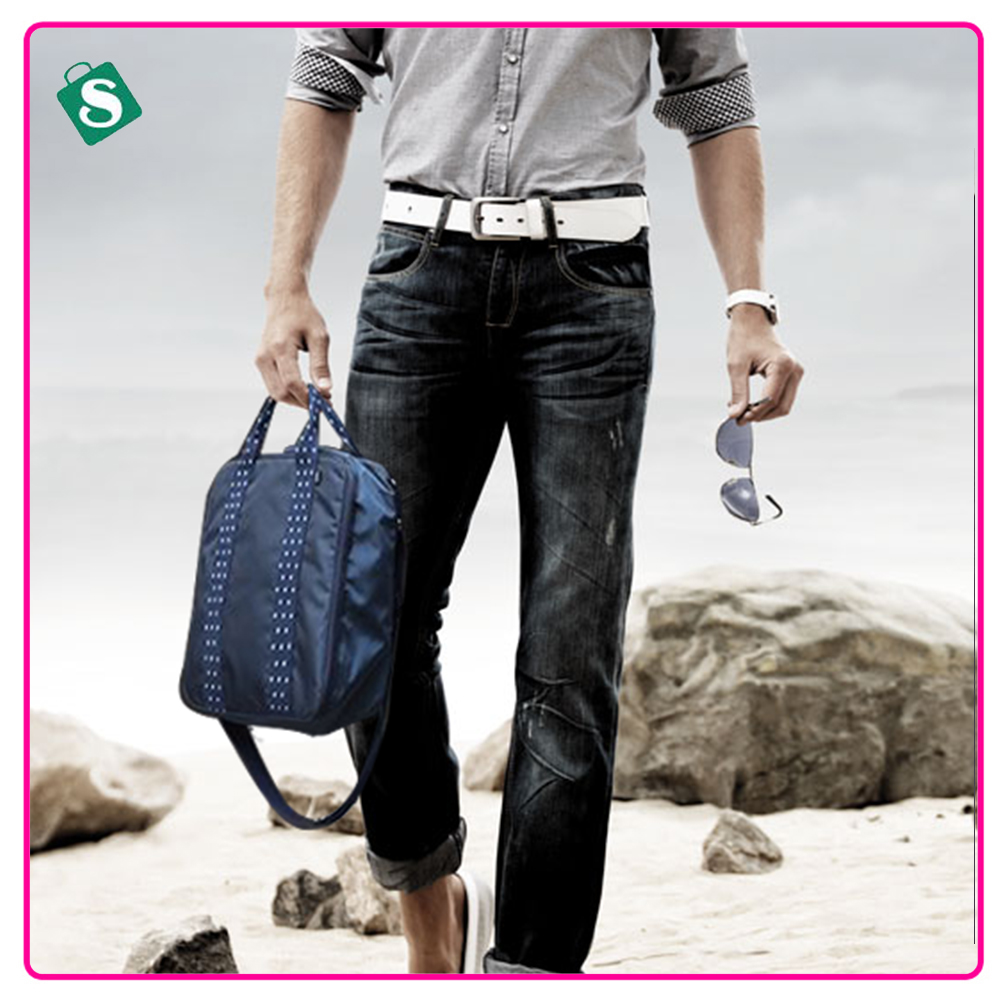 Men Travel bag small size tote luggage bags solid color portable luggage bag