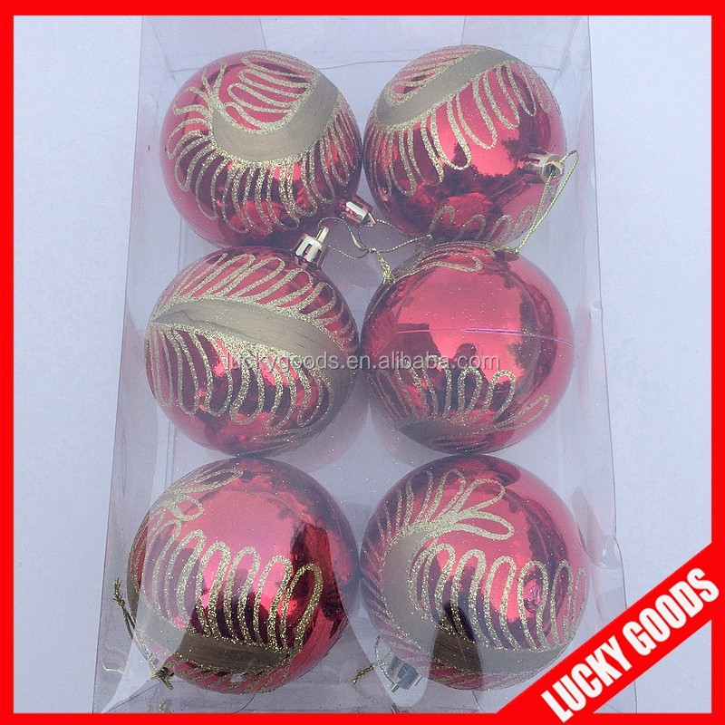 Christmas tree decoration Plastic painted Christmas balls