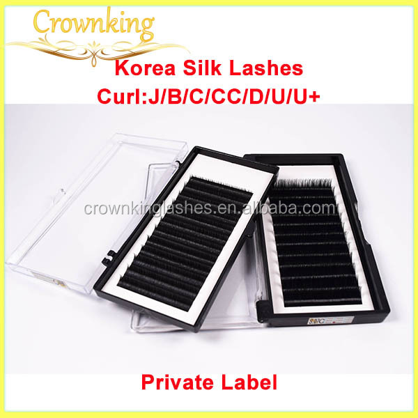 Premium quality korean pbt eyelash extension with stable curl