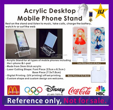 Acrylic desktop mobile phone stand