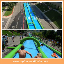 300m Long Double Lanes Inflatable Slip N Slide With Water Pump Slide
