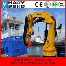 8 ton small 3 knuckle boom floating crane for sale with radio control