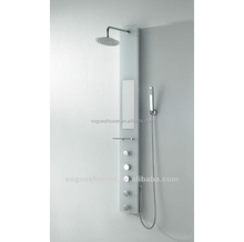 Hot Selling Wall Mounted With Pattern Tempered Glass Bathroom Shower Panel
