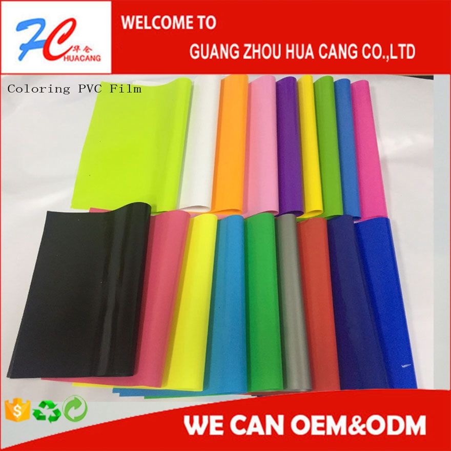 clear soft roll colored pvc plastic film