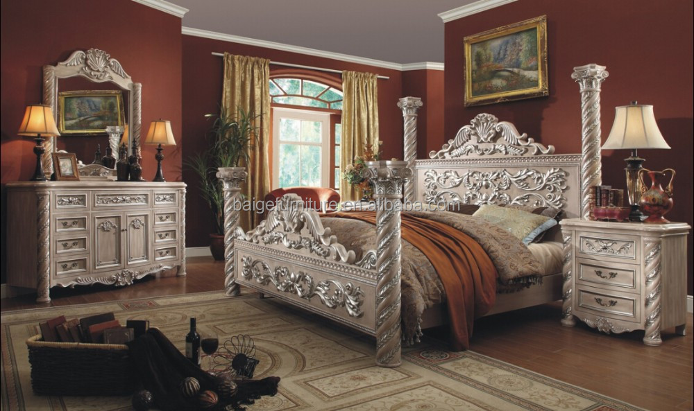 F 8008B Italian Bedroom Sets Luxury Round King Size Bed